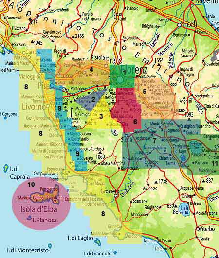 Toskana Strand Karte.Toscana Toskana Toskana Toscana Italien Italiareisen